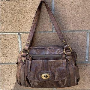 Fossil Heritage Long Live Vintage Rugged  Handbag